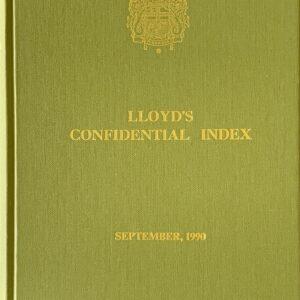 Lloyd's Confidential Index 1990